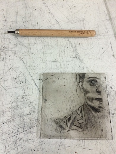 inked etching